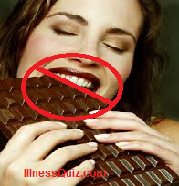 This is women who is getting pleasure in chocolates.